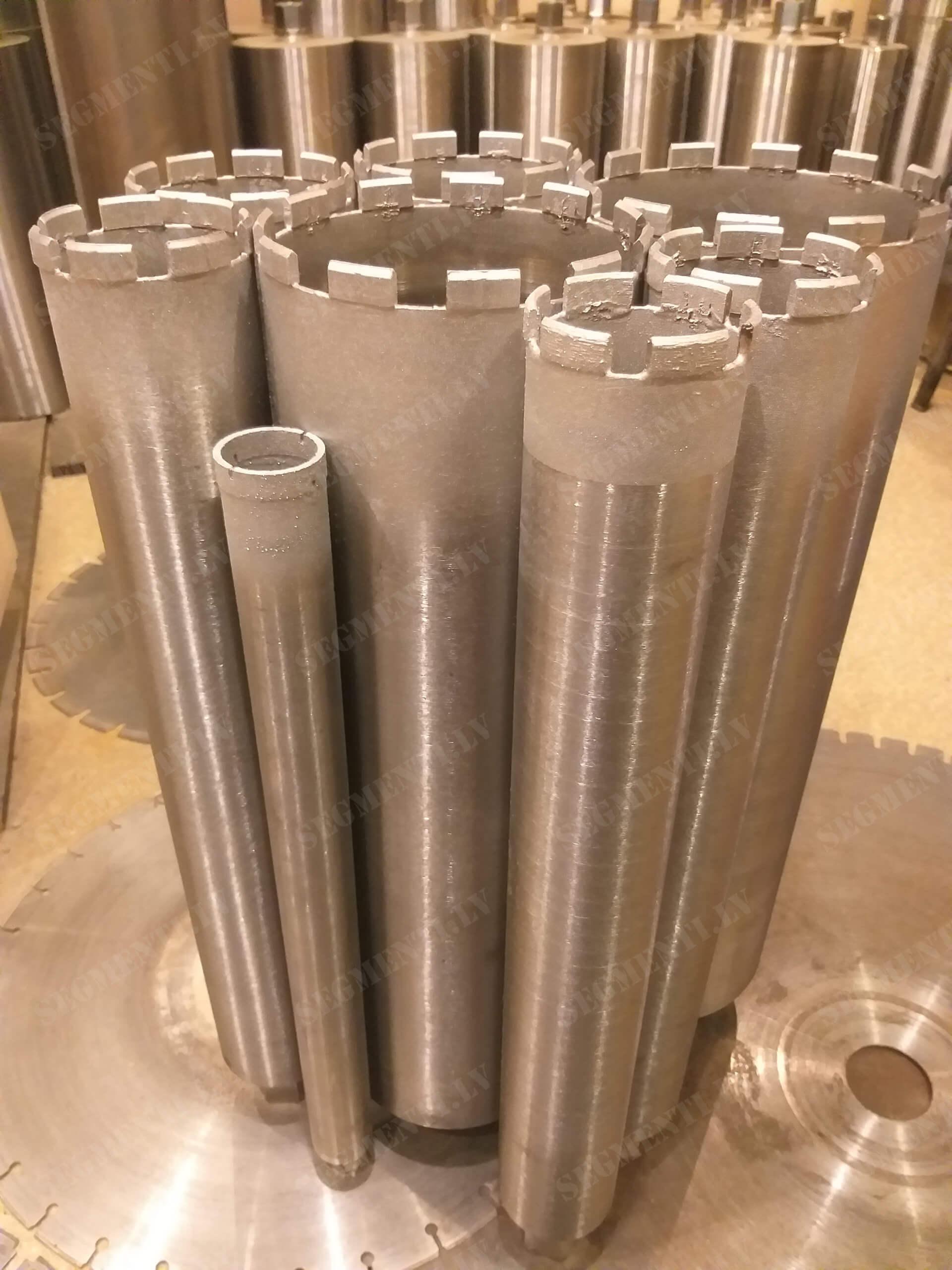 Восстановление алмазных коронок по бетону